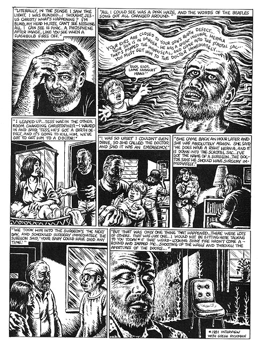 The Religious Experience of Philip K  Dick by R  Crumb from